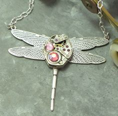 Darling Dragonfly necklace by Mystic Pieces
