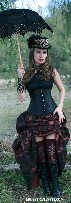 Majestic Velvets Steampunk Costume #punk_style_costumes