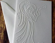 embossed angel ilhouettel card - Google Search