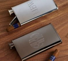 The flask and cigar holder combo will hold two of your vices at once, alcohol and tobacco, plus you will look classy as hell while using it.