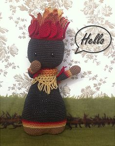 Lignumi Doll  Fire Edition  Hand Crocheted Doll by Fabulami, ¥13500