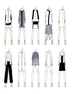 Fashion Portfolio - modern tailoring, fashion design sketches; fashion illustration; fashion sketchbook // Justine W. Lee