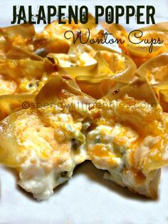 Jalapeno Popper Wonton Cups!  Easy, creamy and addictive!