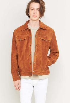 Urban Outfitters - Urban Renewal Vintage Re-Made Suede Trucker Jacket