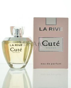 Fragrance notes are black currant, yuzu , hollyhock, honeysuckle, lily, iris , rose, cedar, sandalwood and musk.  www.maxaroma.com fragrance women la-rive-cute-for-women pid 11520 5 La Rive, Black Currants, Hollyhock, Cute Woman, Iris, Perfume Bottles, Fragrance, Lily, Notes
