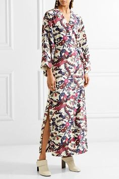 Elizabeth and James - Howe Floral-print Silk Maxi Dress - Ivory - x small