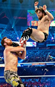 Check out photos from Daniel Bryan's in-ring return as he teams up with Shane McMahon to battle Kevin Owens and Sami Zayn at WrestleMania Wwe Wrestlemania 34, Sami Zayn, Daniel Bryan Wwe, Shane Mcmahon, Kevin Owens, Wwe Champions, Aj Styles, Women's Wrestling, Wwe News
