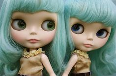 I love Blythe Dolls. I think they are hauntingly beautiful with their big heads and large eyes.