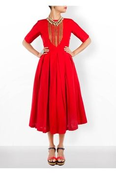 Red Midi Dress   #carma #carmaonlineshop #style #fashion #designer #indianfashion #indiandesigner #ankitajuneja #gown #couture #shopnow #indianwear #pretty #girly #onlineshopping #instashop #beautiful #outfitpost #ootd #ootn #partywear #eveningwear #whattowear #red #midi #dress