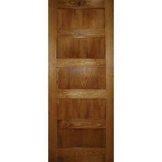 A Zen Designed 5 panel Shaker door in Clear Pine Conception Zen, Bedroom Scene, Laundry Room Doors, Zen Design, Shaker Doors, Glass Panels, Windows And Doors, Home Depot, Tall Cabinet Storage