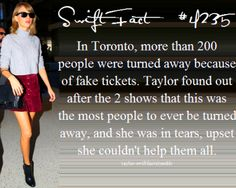 I love Taylor because she loves Swifties