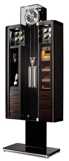 Boca do Lobo Private Collection is an Exclusive Collection containing Jewelry, Steampunk and Humidor Wine Clock Safes and Safeboxes Cigar Humidor, Cigar Bar, Pipes And Cigars, Cigars And Whiskey, Cuban Cigars, Cigar Accessories, Cigar Room, Grandfather Clock, Wine Cellar