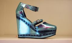 LOOK 1 - Opening Ceremony Olivia Ankle Strap Wedges $510.00