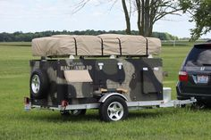 Homemade Camper Trailer Base Camp. (Awesome)