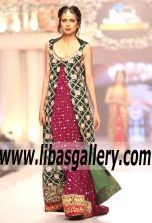 Designer Tabassum Mughal Bridal Dresses and Luxury Gowns - Telenor bridal couture week 2015-2016, #TBCW2015 www.libasgallery.com is an online based fashion brand from Paksitan selling high-graded products inspired by Pakistani and Indian cultures.Our online store displays amazing latest fashion and styles with custom tailoring service.making lives easier of people living in the Untied States,Canada,UK,Europe,Middle East,Far East and Australian .