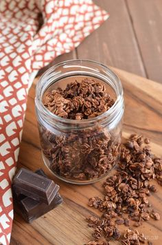 Slimming Eats Low Syn Chocolate Granola - gluten free, vegetarian, Slimming World and Weight Watchers friendly Slimming World Pancakes, Slimming World Desserts, Slimming World Breakfast, Low Syn Chocolate, Low Calorie Chocolate, Chocolate Granola, Slimming Eats, Slimming World Recipes, Low Calorie Granola