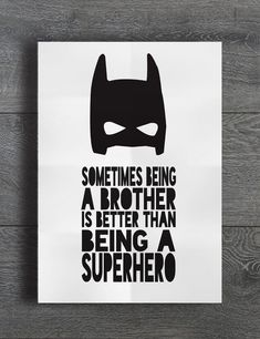Details about Sometimes Being A Superhero Batman Brother Boys Room Decor Kids Print Monochrome - Batman Decoration - Ideas of Batman Decoration - Sometimes Being A Superhero Batman Brother Boys Room Decor Kids Print Monochrome Batman Kids Rooms, Boys Superhero Bedroom, Batman Nursery, Superhero Room Decor, Batman Bedroom, Kids Bedroom Boys, Boys Room Decor, Boy Room, Kids Batman