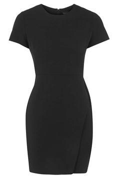 Asymmetric Wrap Shift Dress - Topshop