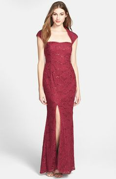 Hailey by Adrianna Papell Embellished Lace Gown (Online Only) available at alissa? Bridesmaid Dresses, Prom Dresses, Bride Dresses, Holiday Party Dresses, Formal Dresses For Women, Gowns Online, Adrianna Papell, Mother Of The Bride, Ladies Fashion