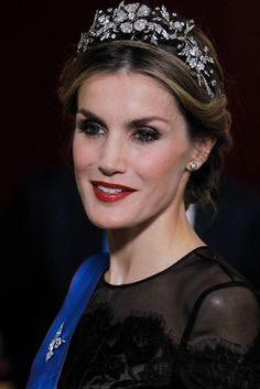 King Felipe and Queen Letizia receive Chilean President Michelle Bachelet for a Gala dinner at the Royal Palace in Madrid, Spain. 29 October 2014