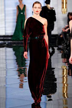 Ralph Lauren Fall/Winter 2011 Looks like silk velvet in the most luscious red!