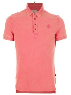 MONCLER GRENOBLE  washed polo shirt