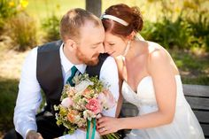 Mrs. Fox & Foxy in one of a very few couple pictures. #wedding #junewedding #love