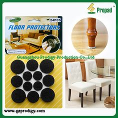 Reduce attrition, scratching, and noise.#Adhesive Felt Floor Protector Pads