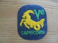 CAPRICORN 70s vintage patch sewon RARE colors by UndergroundSkunk, $1.50