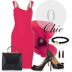 O Chic by jacque-reid on Polyvore featuring мода, Roland Mouret, Salvatore Ferragamo and David Yurman