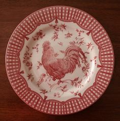my weakness: pretty red and white plates