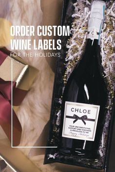 Personalized Wine Bottles, Personalized Labels, Gift Certificate Template, Gift Certificates, Gifts For Wedding Party, Party Gifts, Custom Wine Labels, Wedding Shower Decorations, Happy Hour Drinks
