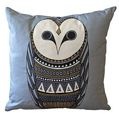 The One Who Waits Cushion - Cushions - Soft Furnishings - Home + Gift Woodland Room, Owl Home Decor, Owl House, Printed Cushions, Owl Print, Winter House, House And Home Magazine, Stone Art, Soft Furnishings
