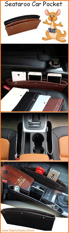 The Seataroo Car Pocket was designed to instantly complete your car with all the extra storage space you EVER wished for! Its sleek and portable design perfectly fit in the unused spaces between the s