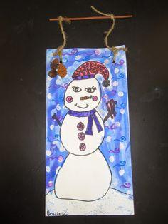 sneeuwpop tekenen 2