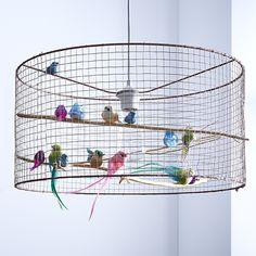 luminaire cage oiseau - idée déco noel  http://www.zodio.fr/idees-deco/deco.html/tendance/23