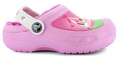 Fun and furry Hello Kitty® Crocs®:synthetic upper, faux fur lining for added warmth and comfort, strap across heel helps keep shoe secure, Hello Kitty® graphics along upper, durable and flexible outsole for long-lasting wear