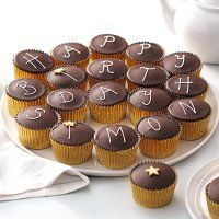 Buy 24 Fiona Cairns Chocolate Party Cakes online from Waitrose today. Chocolate Party, Cake Online, Party Bags, Mini Cupcakes, Cairns, Desserts, Food, Tailgate Desserts, Deserts