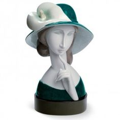 A Woman with a Hat and Calla Lilly -