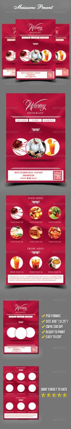 Warteg Restaurant Flyer Template - graphicriver sale