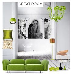 """""""Going Green..."""" by sue-mes ❤ liked on Polyvore featuring interior, interiors, interior design, home, home decor, interior decorating, Motherhood Maternity, Moooi, Vondom and WALL"""