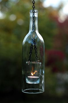 wine bottle lantern.....love it!!!!