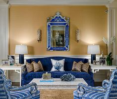 Blue Living Room by Decor Dose