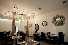 Chandelier, Ceiling Lights, Mirror, Lighting, Furniture, Home Decor, Studio Apartment Design, Dining Room, Restaurants