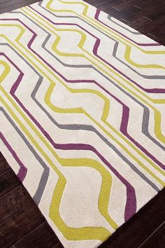 Modern Geometric Pattern Tufted Rug