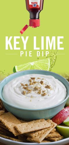 How do you improve the classic Key Lime Pie? Make it a dip! Blend cream cheese, condensed milk and heavy cream, then add fresh McCormick® Pure Lime Extract for a smooth, lime-filled finish. Serve with graham crackers for dipping. Dessert Dips, Dessert Recipes, Delicious Desserts, Yummy Food, Tasty, Lime Recipes, Pure Lime, Key Lime Pie, Yummy Eats