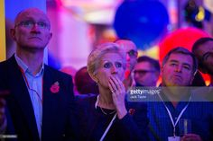 Guests watch the results come in at a US election night party at the United States Embassy in the early morning hours on November 9, 2016 in London, England. Americans have gone to the polls on November 8 to elect the 45th President of the United States. Hillary Clinton represents the Democrats and, if successful, would be the first woman president in American history. Donald Trump represents the Republicans and his campaign has been dogged by bad publicity, despite this the polls show that…