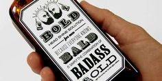 Retro Typography Hair Wax - 'Bold Bald' by Steph Davlantes Adds Whimsy to Men's Grooming (GALLERY)