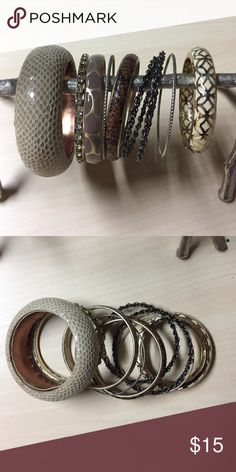 Bracelet / Bangle Bundle Variety of bangles from Banana Republic / Express / The Limited. Total of 9. The Limited Jewelry Bracelets