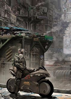 MTL Writer, daydreamer and resident cyberpunk. The brain that collates this visualgasm also assembles words into post-cyberpunk dystopia: my. Ville Cyberpunk, Rpg Cyberpunk, Futuristic City, Futuristic Technology, Technology Gadgets, Futuristic Motorcycle, Arte Sci Fi, Sci Fi Art, Image Moto